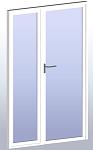 Porte avec vitrage fixe latéral
