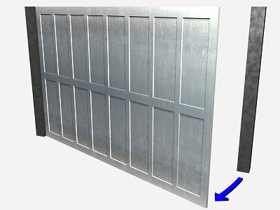 Prix en france de u de porte battante pour garage en for Porte garage sectionnelle 300x200